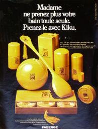 Kiku faberge 1970s advert perfume
