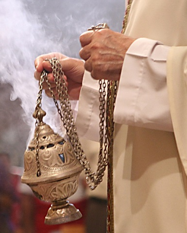 thurible perfumed incense